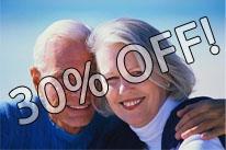 30% Off labor for senior citizens